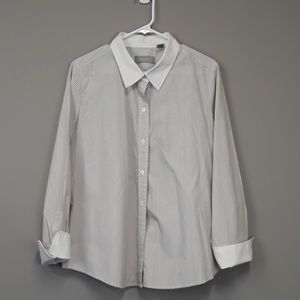 Liz Claiborne Pinstriped button down women's shirt